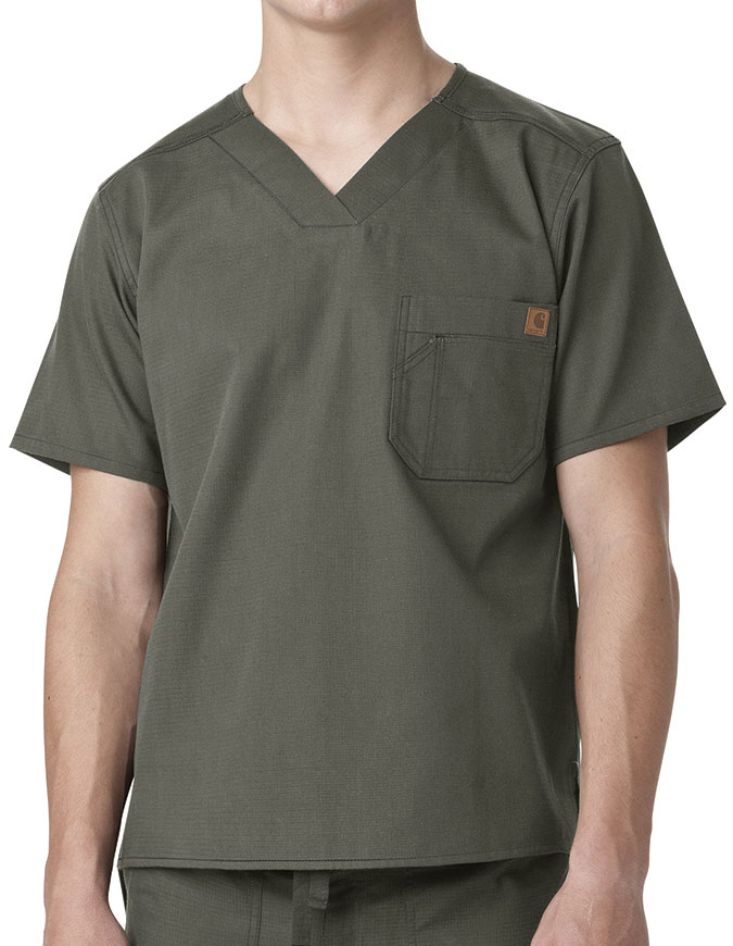 Carhartt Men's Solid Ripstop Utility Nurses Scrub Top