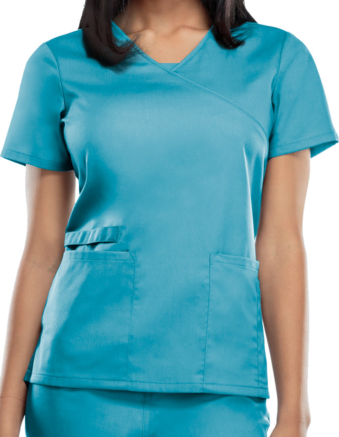 Cherokee Workwear WW Flex Women's Mock Wrap Top