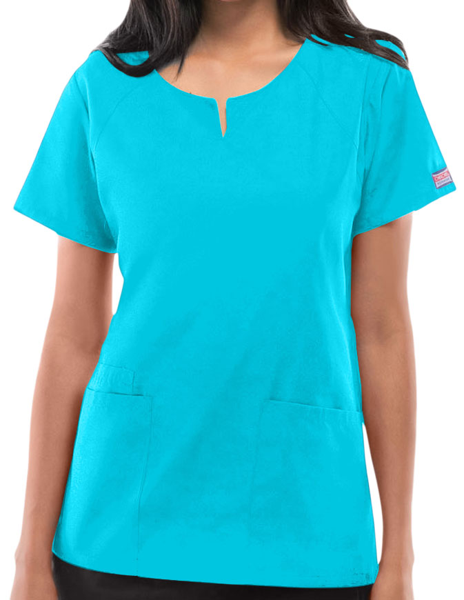 Cherokee Workwear Womens Four Pocket Scrub Top