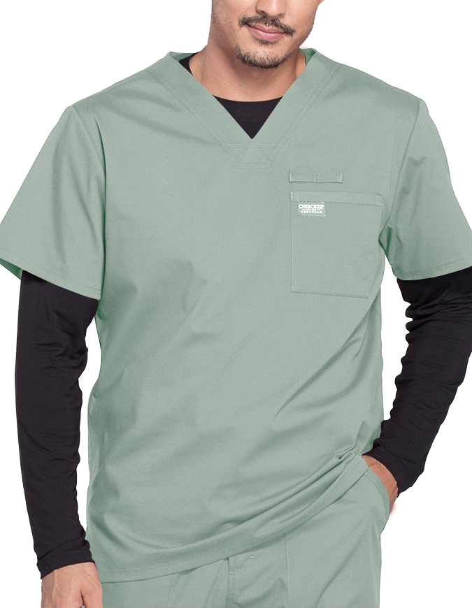 Cherokee Workwear Professionals Men's V-Neck Basic Scrubs Top