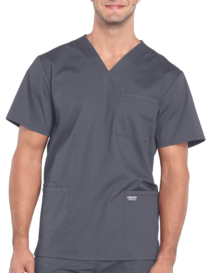 Cherokee Workwear Professionals Men's V-Neck Tall Basic Top