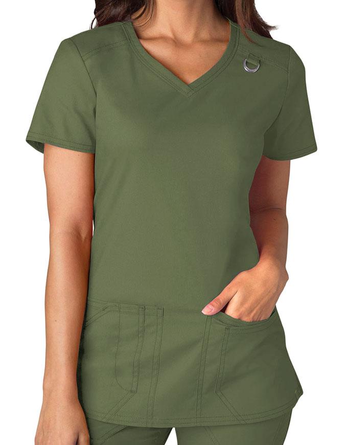 Dickies EDS Signature Stretch Women's Jr. Fit V-Neck Top