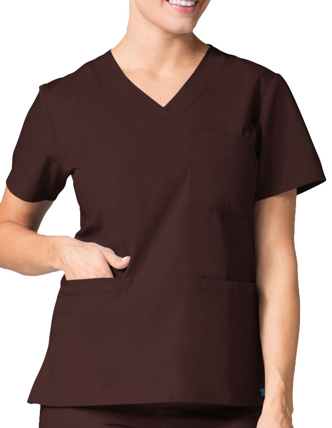 Maevn Core Women's Curved V-neck Top