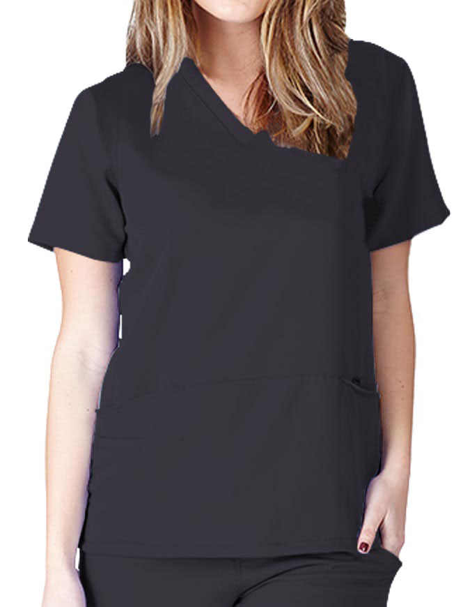 Natural Uniforms Women's V-neck Ultrasoft Scrub Top