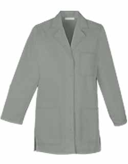 Women Colored 32 Inches Three Pocket Short Twill Lab Coat