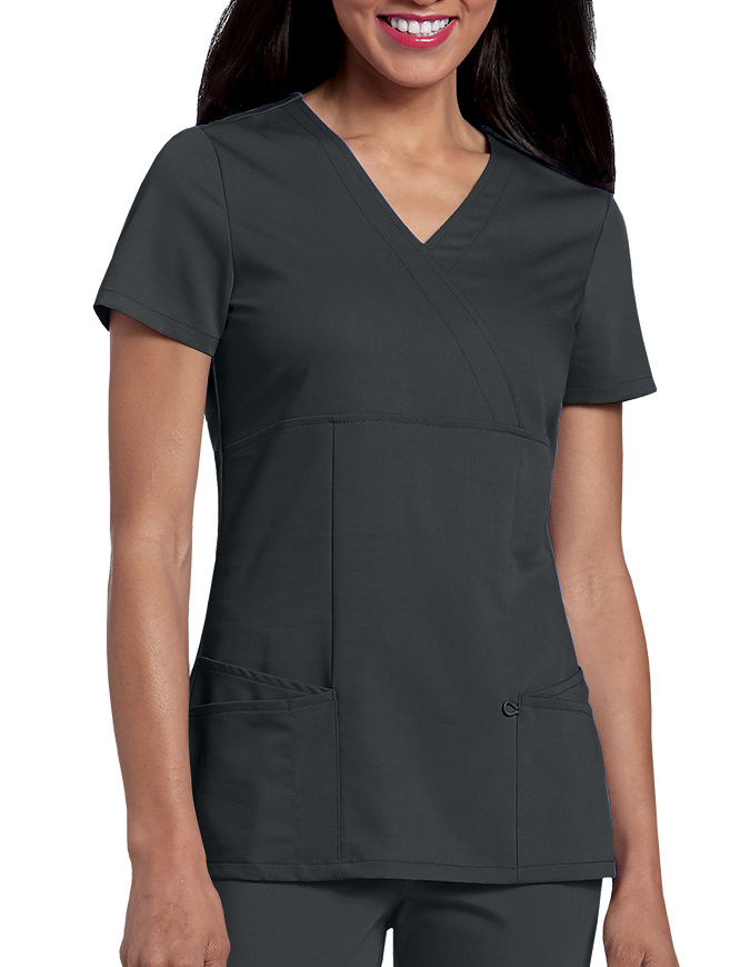 Urbane Ultimate Womens Ashley Mock Wrap Nursing Scrub Top