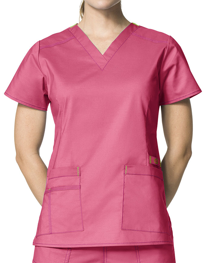 Wink Scrubs Lady Fit V-Neck Nursing Scrub Top