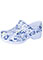 Anywear Women's Snow Leopard Closed Back Plastic Clog