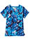 Bio Women's Angle Pocket Floral Print V-Neck Top