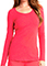 Careisma Knit Underscrubs Women's So Haute Icy Coral Long Sleeve Knit Tee