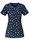 Cherokee Once In A Blue Moon Women's Peek A Bloom Round Neck Top