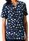Cherokee HQ Womens V-Neck Dot's Wonderful Print Scrub Top