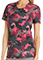 Cherokee Steel My Heart Women's Round Neck Camo Print Scrub Top