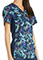 Cherokee Free To Fly Women's Contrast Knit Panel Mock Wrap Printed Top