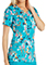Cherokee Genuine Women's Furry Up Princess Seam V-Neck Printed Top