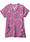 Jockey Classic Women's Pink Floral V-Neck Printed Top