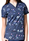 Maevn Prints Women's Printed Linear Hearts V-neck Top