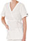 White Swan Fundamentals Women Tie Belt Mock Wrap Scrub Top