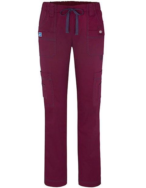 Adar Pop-Stretch Women's Jr. Fit Low-Rise Eleven Pockets Slim Cargo Pants
