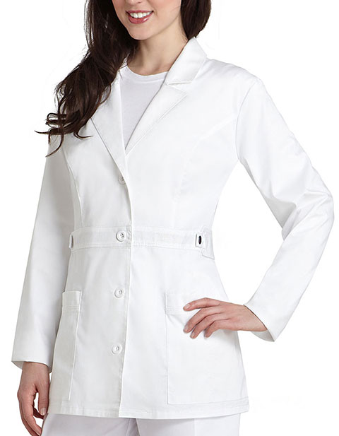 Adar 3300 Pop Stretch Women S 28 Inches Tab Waist Lab Coat