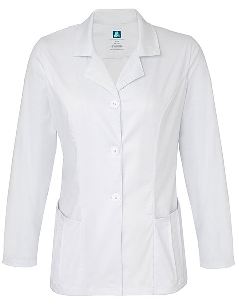Adar Indulgence Women's 28.5 Inches Pin Tucked Consult Lab Coat