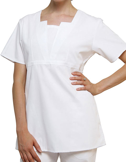 Adar Women Uniform Scrubs Two Pocket Split Neck Tunic