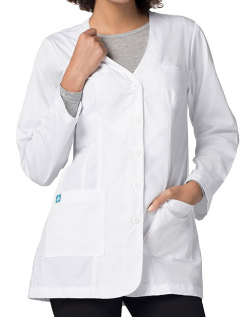 Adar Women's 31 Inches Double Princess V-Neck Lab Coat