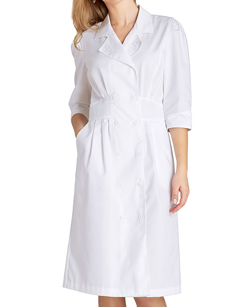 Adar Women's Tuck Pleat Midriff Medical Nurses Dress