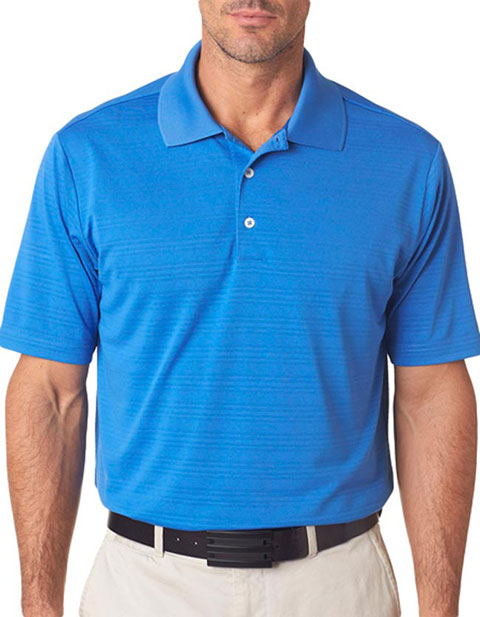 A161 Adidas Men's ClimaLite Textured Solid Polo