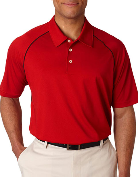 A82 Adidas ClimaLite Piped Polo