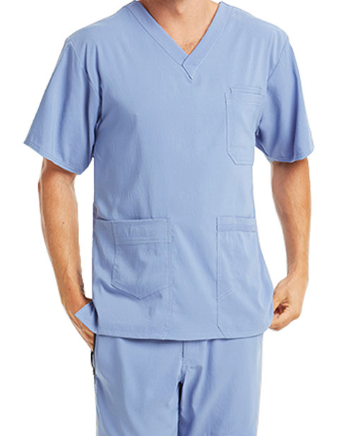 Barco KD110 Men's Seven Pockets V-Neck Basic Scrub Top