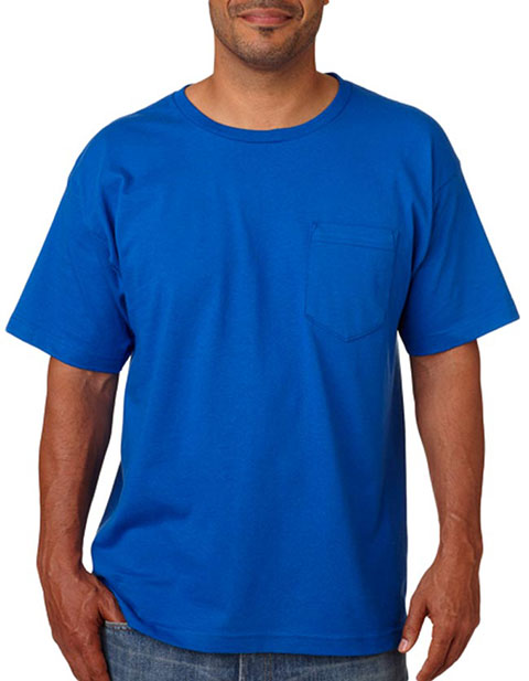 Bayside Adult Short-Sleeve Cotton Tee with Pocket