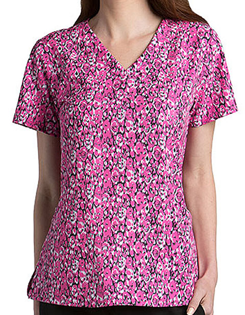 Barco One Women 4-Pocket Synergy Print Top