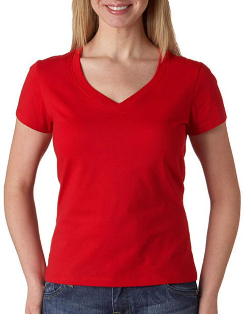 6005 Bella+Canvas Ladies' Short-Sleeve V-Neck Jersey Tee