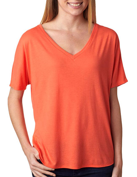 8815 Bella+Canvas Ladies' Flowy Basic V-Neck Tee