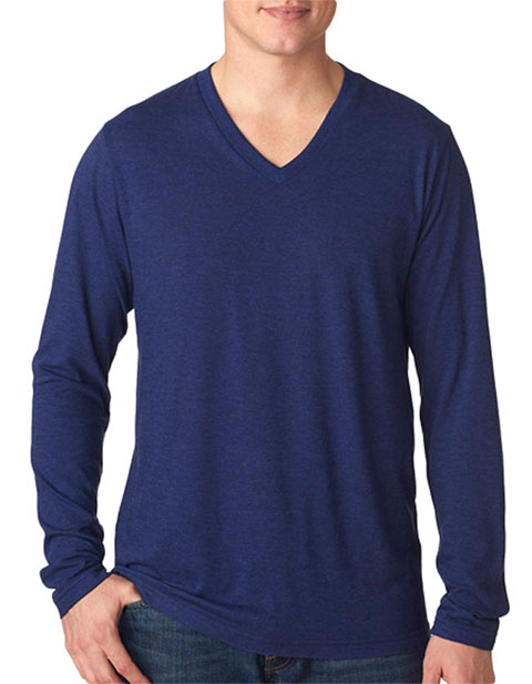 Bella+Canvas Men's Tri-Blend Long-Sleeve V-Neck Tee