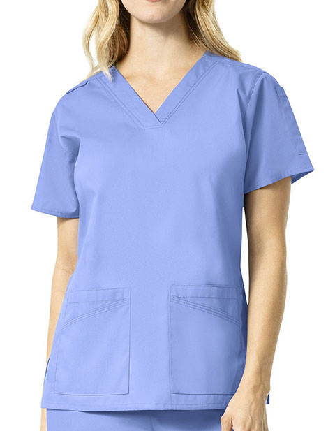 Carhartt Rockwall Women's Multi Pocket V-Neck Solid Scrub Top