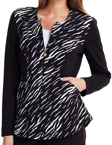Careisma Going Wild Women's Crew Neck Zip Front Jacket