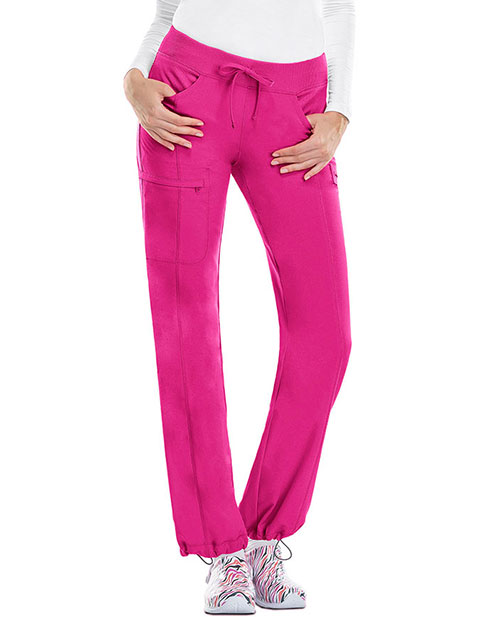 Certainty Petite Antimicrobial Women's Low-Rise Straight Leg Drawstring Pant