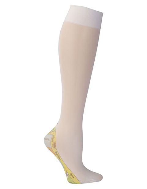 Celeste Stein Women's Knee High 8-15 mmHg Compression Reflexology Hoisery