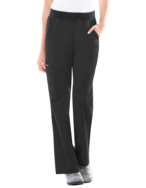 Flexibles Womens Four Pocket Flare Leg Tall Medical Scrub Pants