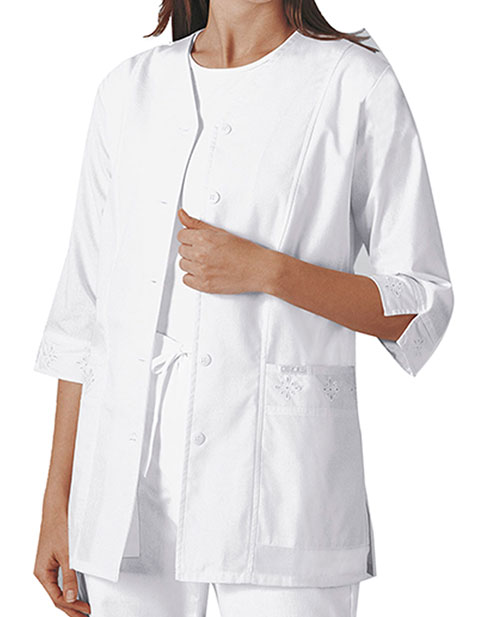 Cherokee Women's 29.5 Inches Three Quarter Sleeve Medical Scrub Jacket