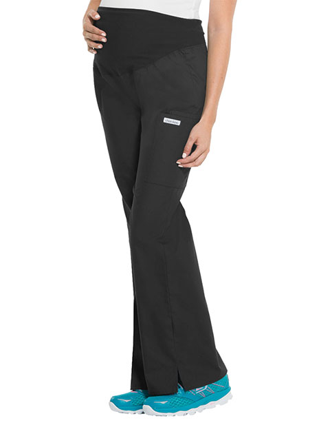 Cherokee Flexibles Women Adjustable Rise Maternity Petite Pants