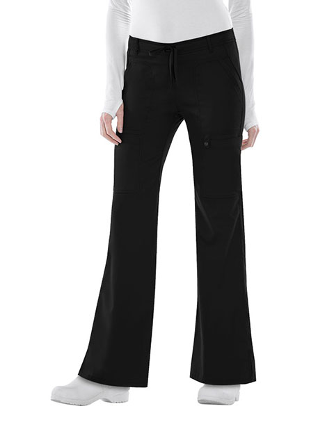 Cherokee Luxe Junior Low Rise Flare Drawstring Pants