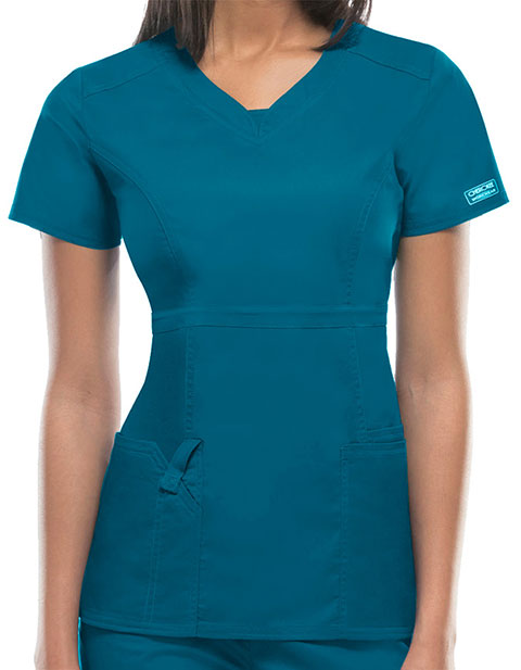 Cherokee WorkWear Junior Empire Waist Scrub Top
