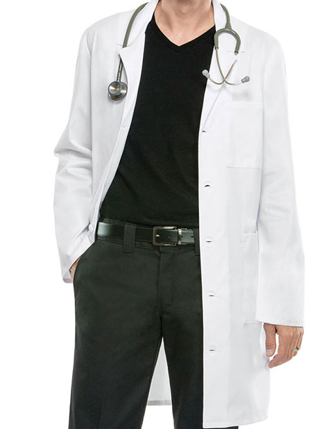 Cherokee Workwear Unisex 38 Inches Notched Lapel Neckline Lab Coat