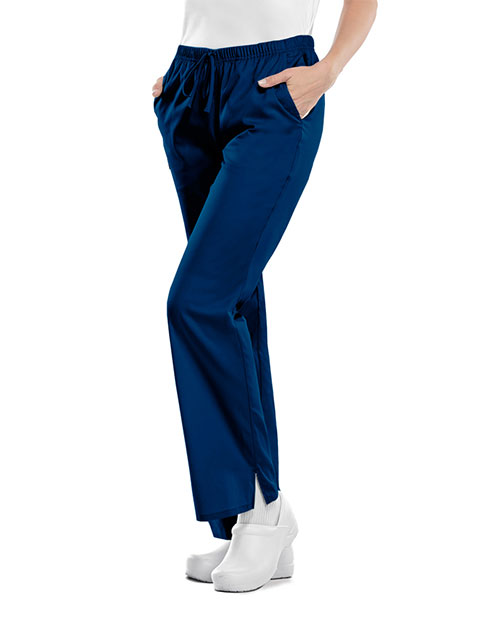 Cherokee Workwear WW Flex Women's Mid-rise Moderate Flare Drawstring Pant