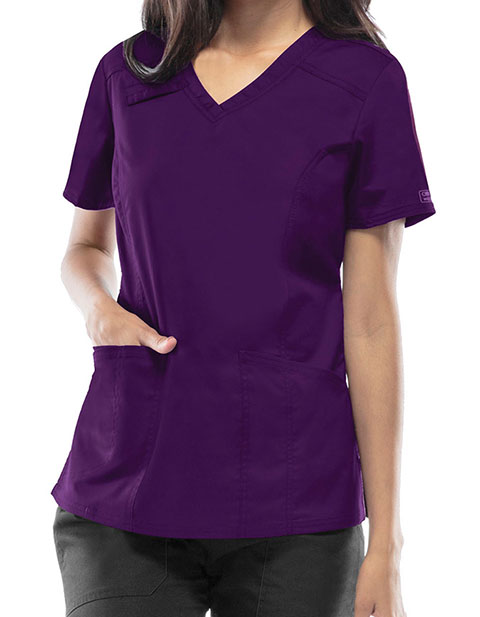 Cherokee Workwear Core Stretch Women's V-Neck Top