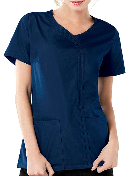 Cherokee Workwear Women Asymmetrical Scrub Top