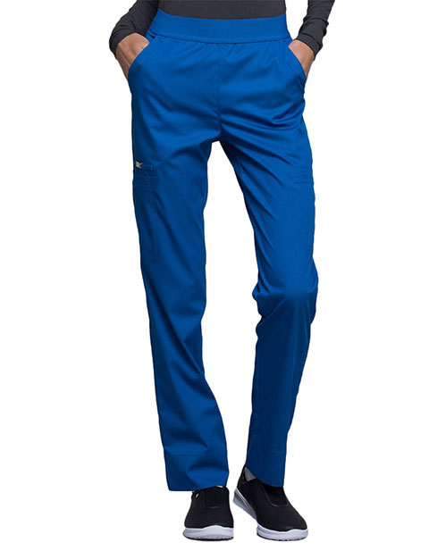 Cherokee Luxe Contemporary Fit Women's Elastic Waist Natural-Rise Tapered Leg Pant